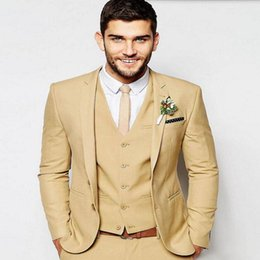 Custom Made Men Wedding Suits High Quality Formal Business Occasions Single Breasted Prom Tuxedosjacket Vest Pants White Gold S