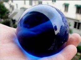 Blue Stone Art Canada - Vrey Beautiful Quartz glass Blue Magic Crystal Healing Ball Sphere 60mm+Stand