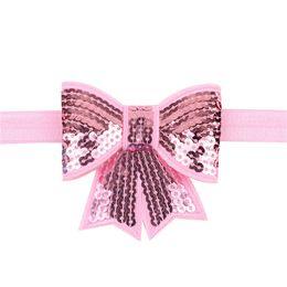 $enCountryForm.capitalKeyWord Australia - Sequin Bow Girl Headband Big Bow Knot Head Wrap 2017 Girls Sequined Head band Turban Headband Girls Hair Accessories Photo Props B468