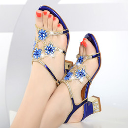 2a90e94e38e6f DiamonDs flat sanDals online shopping - With sandals female diamond  encrusted heels thick with genuine leather