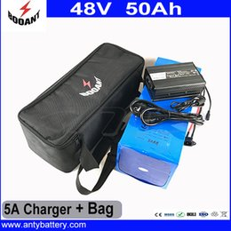$enCountryForm.capitalKeyWord Canada - 50A BMS Lithium Battery Pack 48V 50AH For 8Fun Bafang Motor 1800W With 5A Charger Battery Bag Electric Bicycle Battery 48V