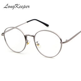 f18a4017c945 Super Light Eyeglass Frames UK - Wholesale- Super Light Retro Clear  Eyeglasses Brand Designer Round
