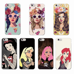 4s cases girl online shopping - Cool Queen Painting Tattooed Girl Phone Case for iPhone Plus s Plus s SE c s