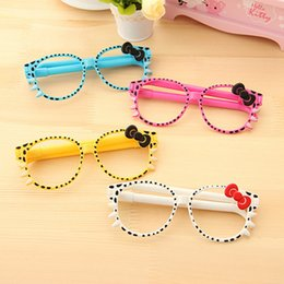 sale pens Australia - Glasses small fresh and cute Korean creative stationery cute pen cartoon pen factory direct sales