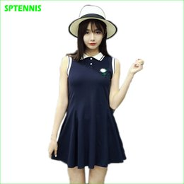 $enCountryForm.capitalKeyWord Australia - Wholesale- 2017 Navy Sleeveless Polo Dress Schoolgirl Summer Sportswear for Tennis Golf Woman