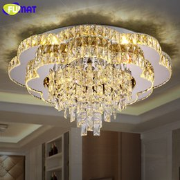 discount modern chandeliers flowers fumat new modern led chandelier flower k9 crystal light fixture living room - Discount Chandeliers