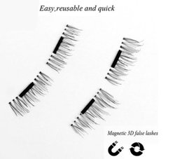 Plastic Black Magnets Canada - Hot Sale 3D Magnetic Fasle Eyelashes 0.2mm Permanent 3D Mink Magnet Lashes 100% Handmade reusable natural Eyelashes