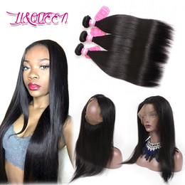 $enCountryForm.capitalKeyWord NZ - 360 Full Lace Frontal Closure With 3 Bundles Peruvian Virgin Human Hair Weaves Straight Peruvian Wavy Remy Hair Extensions