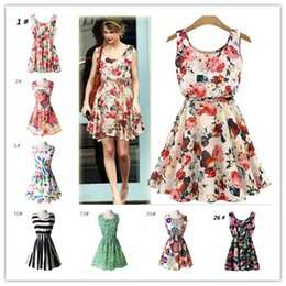 Barato Roupas De Baixo Preço Para As Mulheres-Verão Mulheres Vestido Vestidos Imprimir Casual Low Price China Roupas Femininas Roupas Office Ladies Feminino Bohemian Mini Beach Dress
