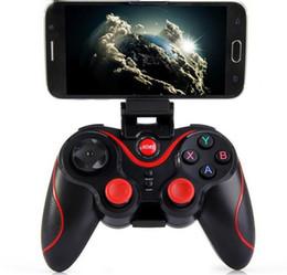 Игровые контроллеры Terios T3+ геймпад bluetooth оснащен держатель сотового телефона GEN GAME S3 Bluetooth геймпад для android телефон IOS iphone
