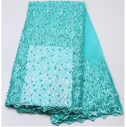 Chinese  ML-55 2017 Beautiful African Lace Fabric  High Quality Nigeria Mesh Lace  French Tulle Beaded Lace Fabric For Fashion Dresses manufacturers