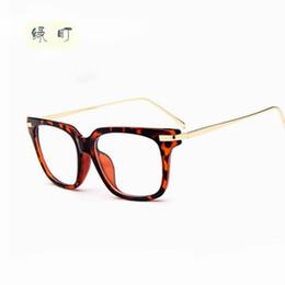 7166a0b7e94 Wholesale- Eyeglasses Men Brand Optical Frames Women Half Rim Clear Lens Eye  Glasses Frames Women Female Spectacle Frame myopia 8024