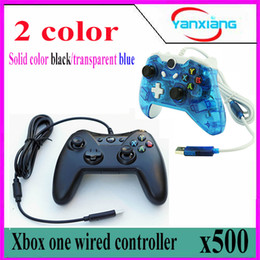 Xbox One Wireless Controllers Canada - 500pcs Wired Game Controller USB Gamepad for Xbox One BX-one-02