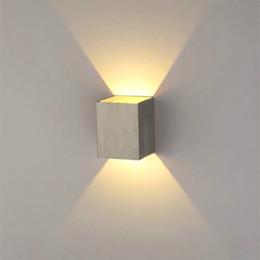 2018 household lighting fixtures 3W AC85-265V LED Wall Sconce Light Square shape Fixture Porch & Discount Household Lighting Fixtures | 2018 Household Lighting ... azcodes.com