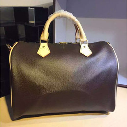 $enCountryForm.capitalKeyWord NZ - Top quality Women Genuine Leather speedy 30 handbag shoulder bag with strap designer handbags Ladies tote can add hot stamping letters