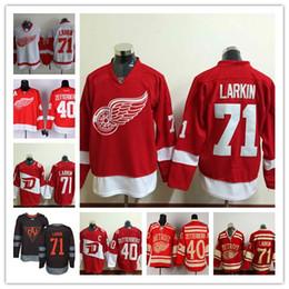 7dea12972 2016 Stadium Series Jerseys Hockey Detroit Red Wings 71 Dylan Larkin 40  Henrik Zetterberg Stitched Black Larkin North America World Cup