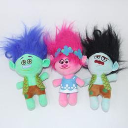dreams plush 2018 - Trolls Plush Toy Poppy Branch Dream Works Stuffed Cartoon Dolls The Good Luck Trolls Gifts (3pcs Lot   Size : 20cm ) che