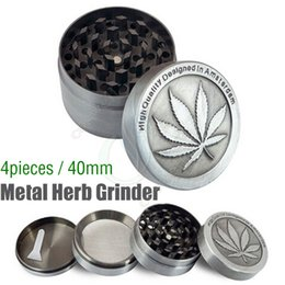 $enCountryForm.capitalKeyWord Canada - Top Metal Herb Grinder 4 Piece Cheap Tobacco Grinders Magentic Designed Amsterdam with Pollen Catcher Scraper 40mm Grey Color Free Shipping
