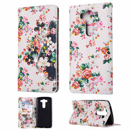Chinese  Floral Leather Flip Wallet 3 Card Slot Case Cover for LG G Stylo 2(2016) G5 G4 G3 K7 manufacturers