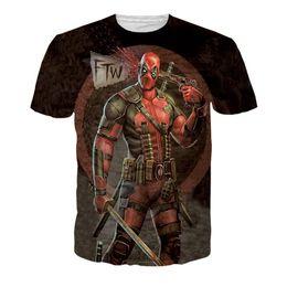deadpool 3d shirt 2019 - 2017 American Comic Badass Deadpool T-Shirt Tees Men Cartoon Characters 3D t shirt Funny Casual tee shirts top Free Ship