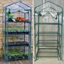 Novas Estufas de jardim 4 camadas Portátil Estufa Novela Casa Plantas Verdes Com V Área de Estufa PVC Material 69 * 49 * 155 cm WX-P02