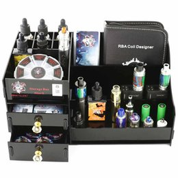Discount e cig liquid holder - Demon Killer Storage Box E Liquid Display Case Clear Black Acrylic Shelf Holder For E Cig RDA TFV8 Tank Atomizer Box Mod