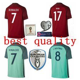 16 17 best quality portugal soccer jersey 2016 2017 ronaldo nani quaresma pepe guerreiro euro cup