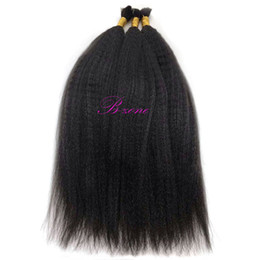 Chinese  Malaysian Kinky Straight Human Hair Bulk For Braiding Afro Mongolian hair Bundles No Weft Crochet Hair Extensions manufacturers