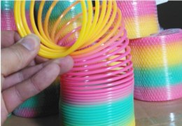 Toys Rainbow Circle Canada - wholesale Rainbow Circle Elastic Circle early education puzzle Education ToysKindergarten games teaching utensils children party gifts