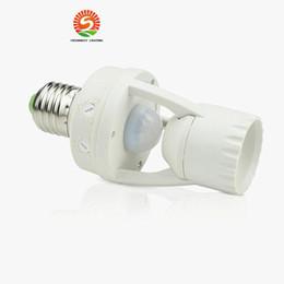 Discount socket bulbs - AC 110-220V 360 Degrees 60W PIR Induction Motion Sensor IR infrared Human E27 Plug Socket Switch Base Led Bulb Light Lam