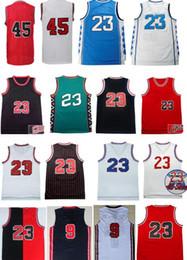 97778126f40ba Jerseys retros de calidad superior retro de la reyerta el 100% del jersey  de baloncesto de los EEUU 9 de los jerseys de Michael 30 23 cosieron el  envío ...