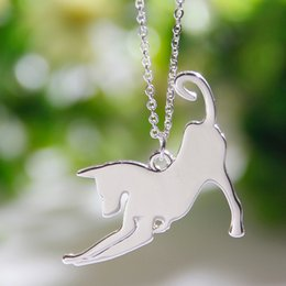Chinese  10pcs Stretching Greyhound Necklace Dog Pendant Whippet Italian Necklaces & Pendants Silver Necklace Charm Women Christmas Gift manufacturers