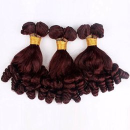 Discount brazilian curly hair styles - Funmi Hair Brazilian Virgin Hair Bundles 99j Cheap Human Hair Weaves 8-30 inch Straight Body Wave Deep Wave Loose Wave C