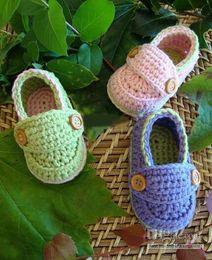 $enCountryForm.capitalKeyWord NZ - Crochet Baby Boys Girls Loafers Newborn Infant First Walk Shoes Helloyaya Flattie Knitted Shoes Flats Prewalker 0-12M Mix Color Cotton Yarn