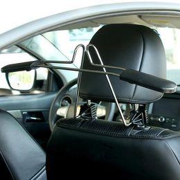 Elbise askısı takım için araba askıları Ölçeklenebilir Uygun kafalık sandalye Koltuk depolama tutucu raf paslanmaz çelik