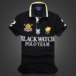 Xl watches men online shopping - designer polo shirts US SIZE new brand fashion luxury designer BLACK WATCH POLO TEAM oversized t shirt EU size Dropshipping