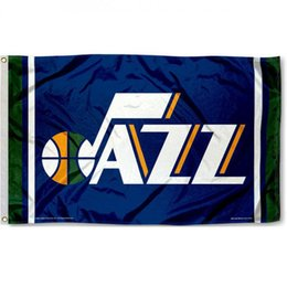 online shopping Basketball Utah Team Large Outdoor Jazz Logo Man Cave Flag Custom America USA Team Soccer College Baseball Football Hockey Flag