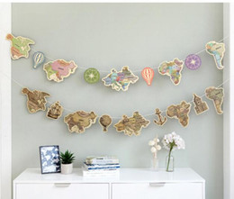 Discount world map flags world map flags 2018 on sale at dhgate wholesale 1pc vintage map of the world garland banners party flags kids birthday party decoration wedding holiday party supplies world map flags on sale gumiabroncs Image collections
