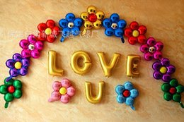 Flower balloons online shopping - New cm five flowers Aluminum foil balloons lovely toys Wedding favors and gifts children s birthday party decoration balloons