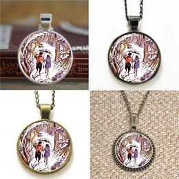 Lion pendant chains online shopping - 10pcs The Lion the Witch and the Wardrobe Lucy and Tumnus in Narnia glass Necklace keyring bookmark cufflink earring bracelet