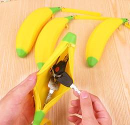 $enCountryForm.capitalKeyWord Australia - Cute Coin Purse Pencil Case Portable Novelty Banana Silicone Pen Bag Wallet Pouch for Men Women Kids DHL free ship