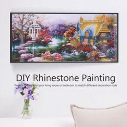 DIY Diamond Mosaic Garden Lodge Painting Cross Stitch Kit Embroidery  Rhinestone Home Decor Art