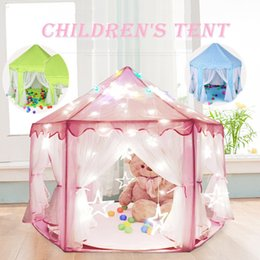 Fairy Castles Canada - Wholesale-multi Colors Kids Portable Toy Tents Princess Castle Play Game Tent Activity Fairy House Fun Indoor Outdoor Playhouse A0673