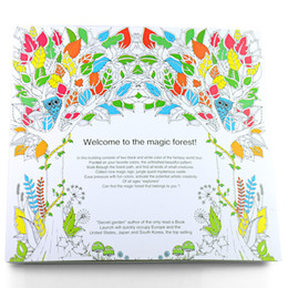 24 Pages New Enchanted Forest English Edition Coloring Book Children Adult Relieve Stress Kill Time Painting Drawing H2179