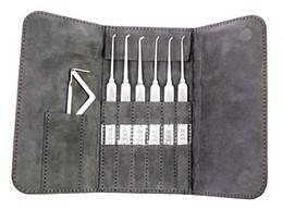 New Arrival HUK 6pcs Stainless Steel Super Picks Set Locksmith Tools Lock Picks Tool Lockpick lock picking set