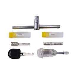 $enCountryForm.capitalKeyWord NZ - New Arrival 3pcs set Strong Force Power Key HU66 Auto Picks Locksmith Tools Transparent Practice Lock for VW