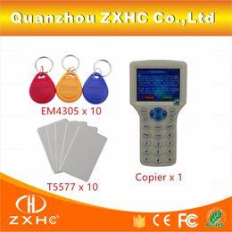 english language 2019 - Wholesale- English Language USB RFID Reader Writer Copier Duplicator For H-ID IC ID 125Khz 13.56Mhz Card 10 Frequency +