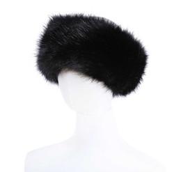 10 cores Das Mulheres Da Pele Do Falso Headband Luxo Inverno Ajustável quente Preto Branco Natureza Meninas Earwarmer Earmuff