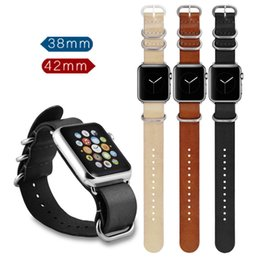 cow apple 2019 - Wholesale price 3 colour cow genuine leather watch band iwatch strap one piece watch band for apple watch 38mm 42mm chea