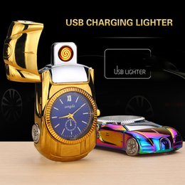Discount usb lighter rechargeable mini - USB Rechargeable Mini Lighter Metal Windproof Ci-garette Lighters Flameless novelty Electric Lighters Multicolor Eletron